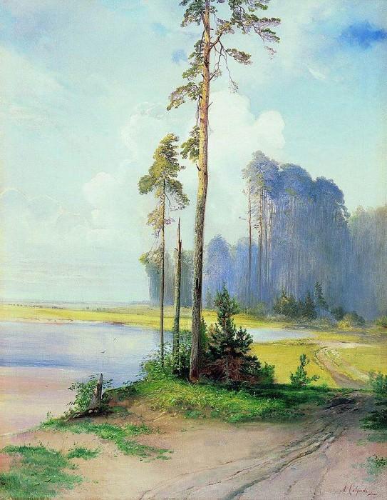 Summer landscape. Pines. 1880. Alexey Kondratievich Savrasov