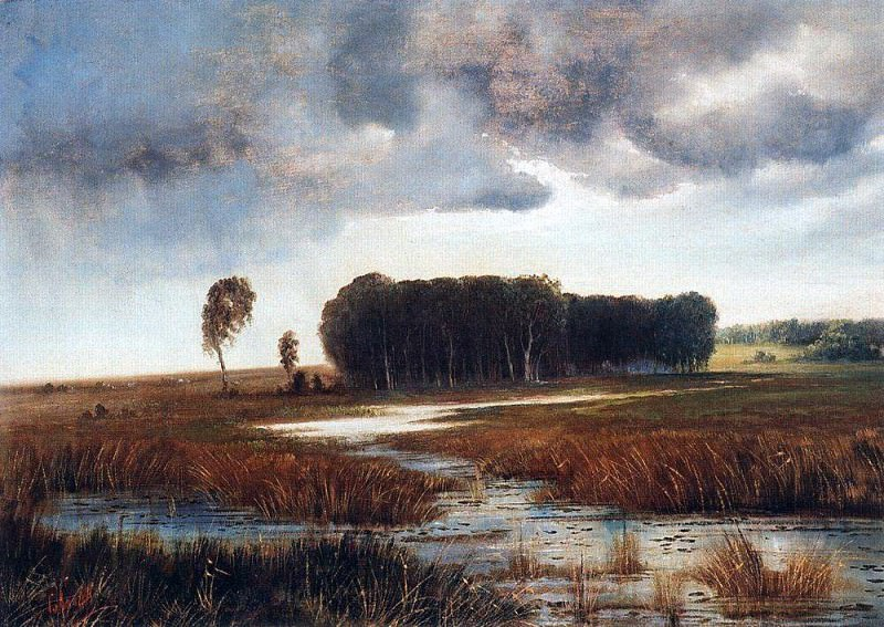 Landscape with marsh and wooded island. Late 1860 - early 1870. Alexey Kondratievich Savrasov
