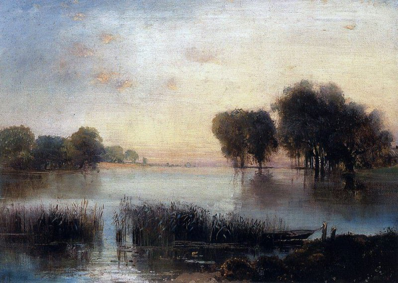 Landscape with a river. 1880. Alexey Kondratievich Savrasov