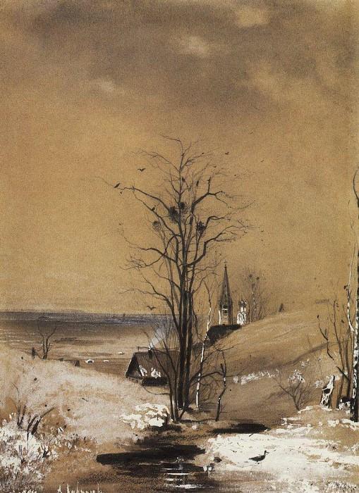 Early Spring 1. 1880. Alexey Kondratievich Savrasov