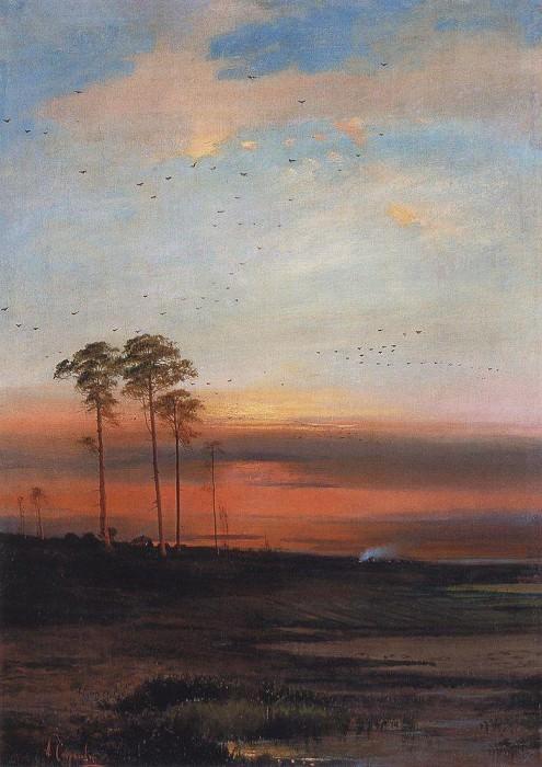 Sunset. Beginning 1870. Alexey Kondratievich Savrasov