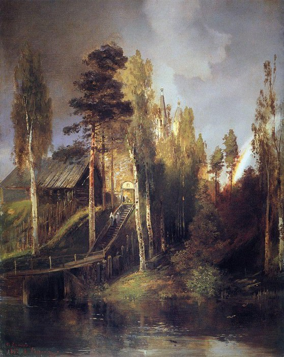 At the gates of the monastery. 1875. Alexey Kondratievich Savrasov