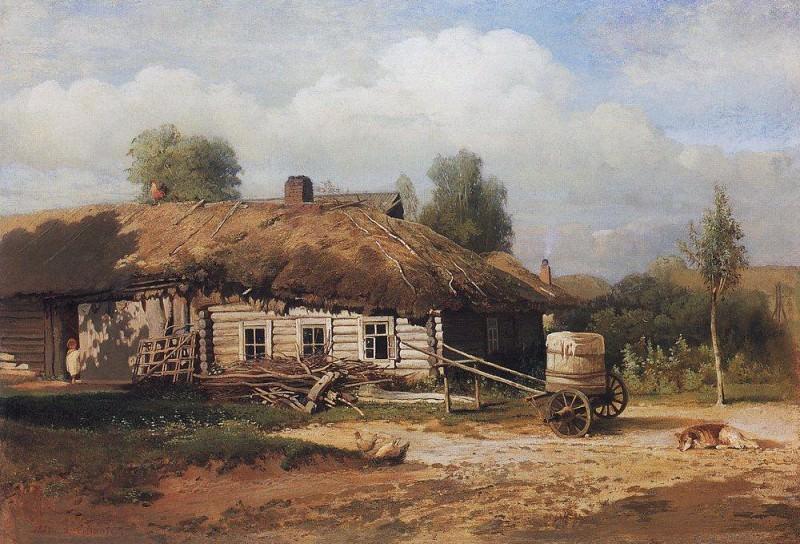 Landscape with hut. 1866. Alexey Kondratievich Savrasov