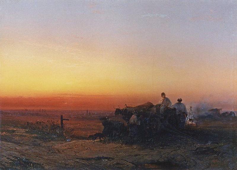 Чумаки. 1854. Алексей Кондратьевич Саврасов