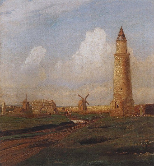 Village Bulgarians. Small Minaret and the ruins of the White House. 1872-1874. Alexey Kondratievich Savrasov