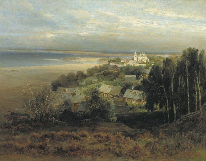 Cave Monastery near Nizhny Novgorod 1. 1871. Alexey Kondratievich Savrasov