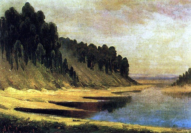 wooded banks of the Moscow River. 1859. Alexey Kondratievich Savrasov