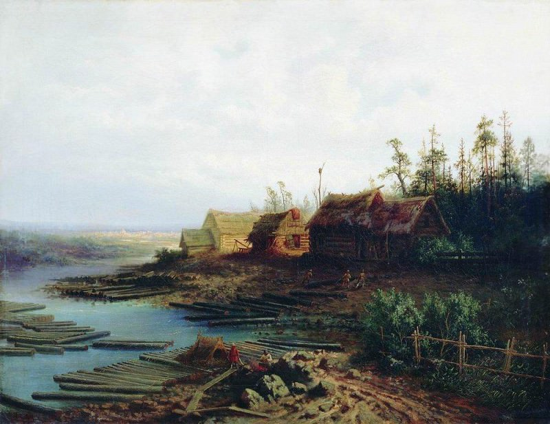 rafts. 1868. Alexey Kondratievich Savrasov