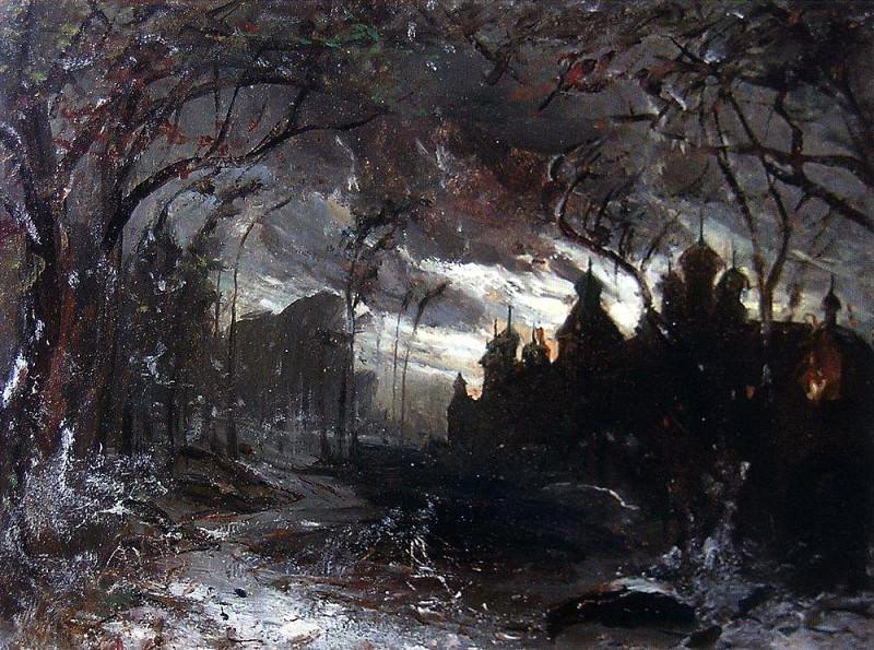 Ipatyevsky monastery in the winter night. 1870. Alexey Kondratievich Savrasov