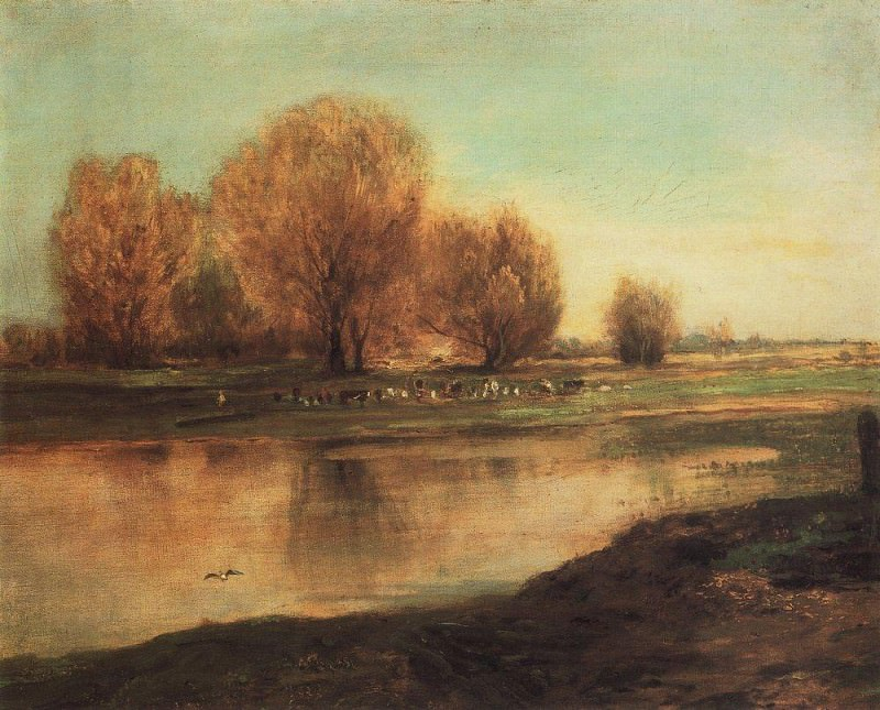 willows by the pond. 1872. Alexey Kondratievich Savrasov
