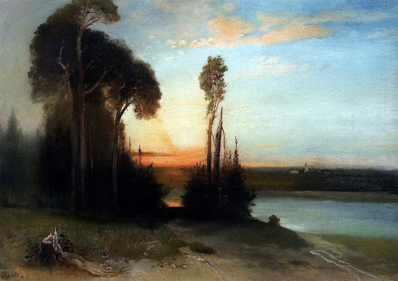 By evening. 1886. Alexey Kondratievich Savrasov