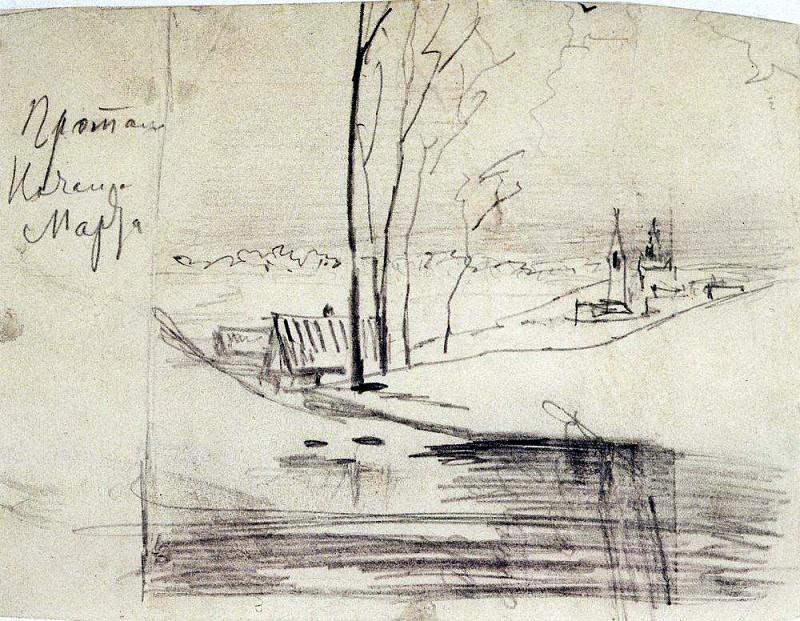 Thaw. The beginning of March. 1880. Alexey Kondratievich Savrasov