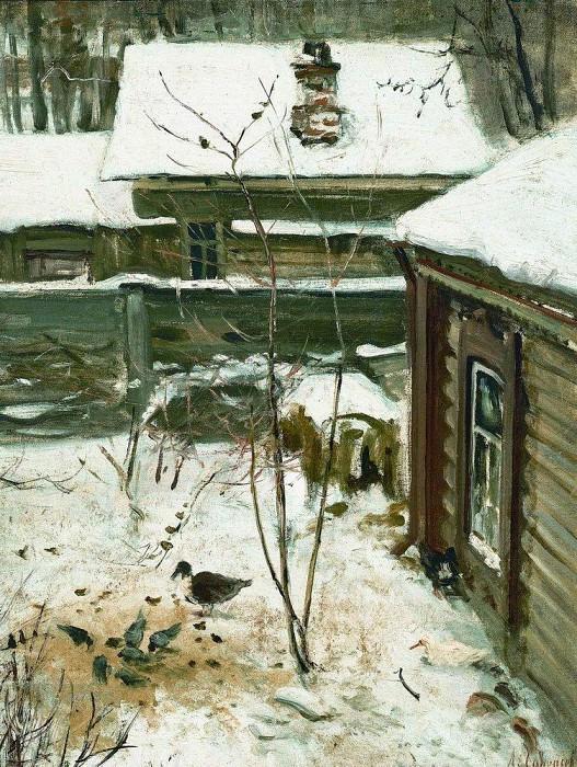 Yard. Winter. 1870. Alexey Kondratievich Savrasov