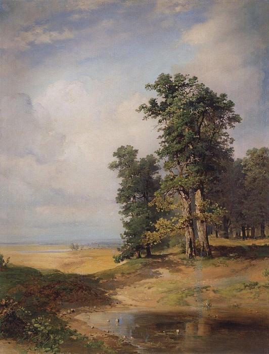 Summer landscape with oaks. Mid 1850. Alexey Kondratievich Savrasov