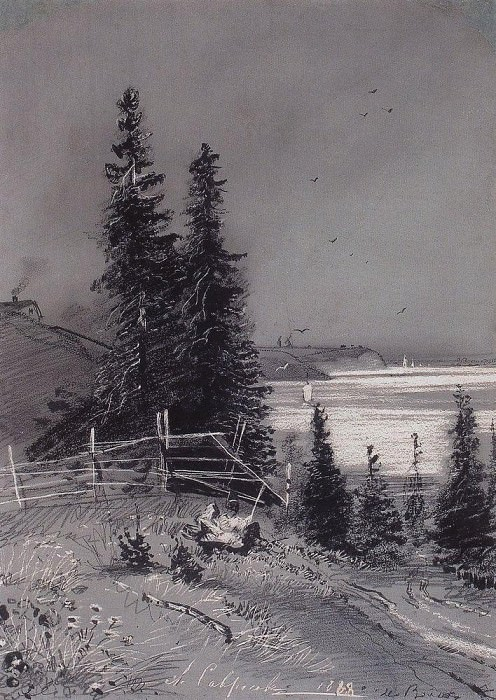 Descent to river. 1868. Alexey Kondratievich Savrasov