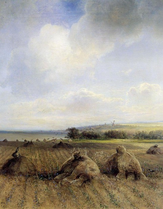 By late summer, on the Volga. 1873. Alexey Kondratievich Savrasov