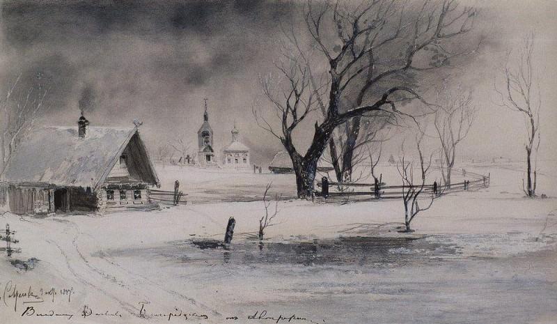 Thaw. 1887. Alexey Kondratievich Savrasov
