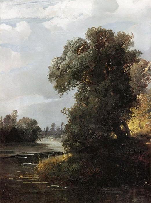 Летний день. Ивы на берегу реки. 1856. Алексей Кондратьевич Саврасов