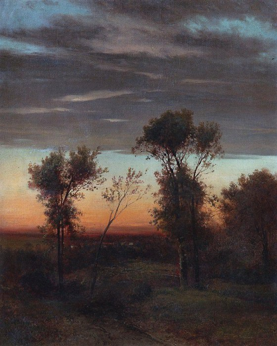 Evening. Late 1860 - early 1870. Alexey Kondratievich Savrasov