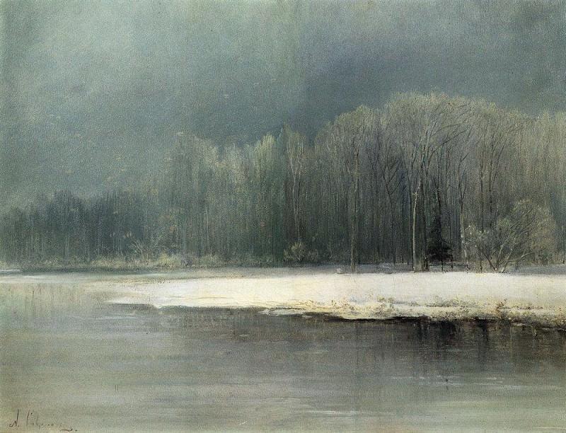 Winter landscape. Rime. 1870. Alexey Kondratievich Savrasov
