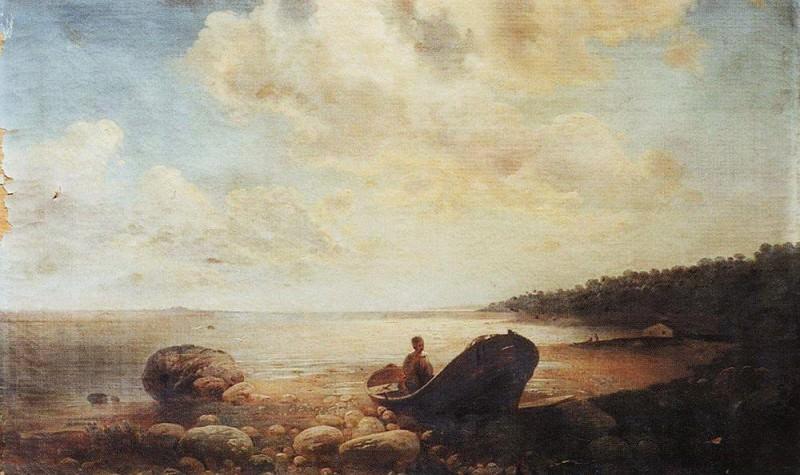 Landscape with a boat. 1860. Alexey Kondratievich Savrasov