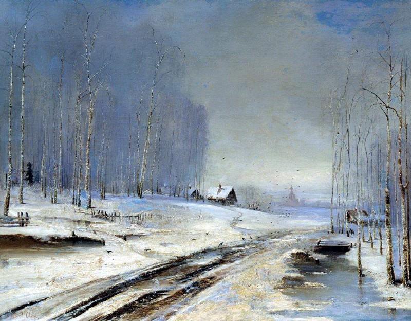 Распутица. 1894. Алексей Кондратьевич Саврасов