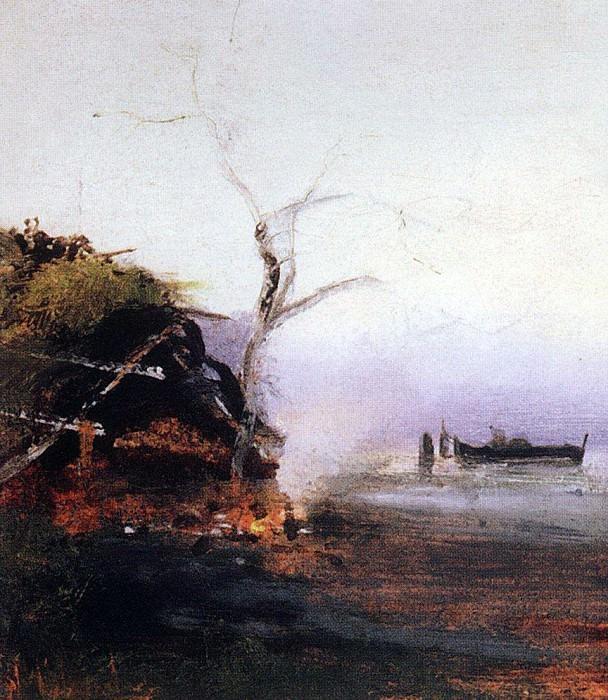 bonfire river. Alexey Kondratievich Savrasov