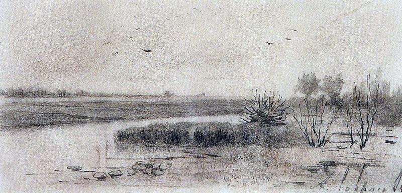 slough. 1875. Alexey Kondratievich Savrasov
