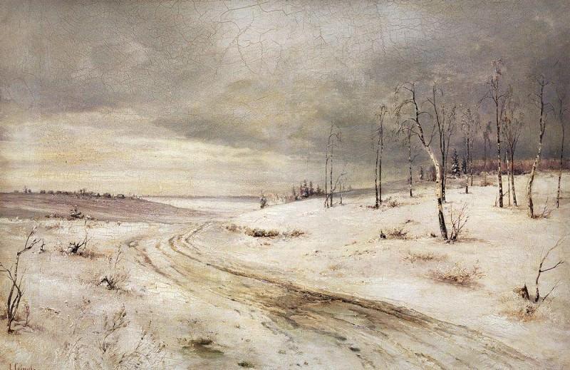 Winter road. 1870. Alexey Kondratievich Savrasov