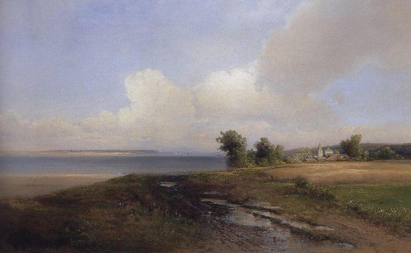 Landscape. Shore of the Volga. 1874. Alexey Kondratievich Savrasov