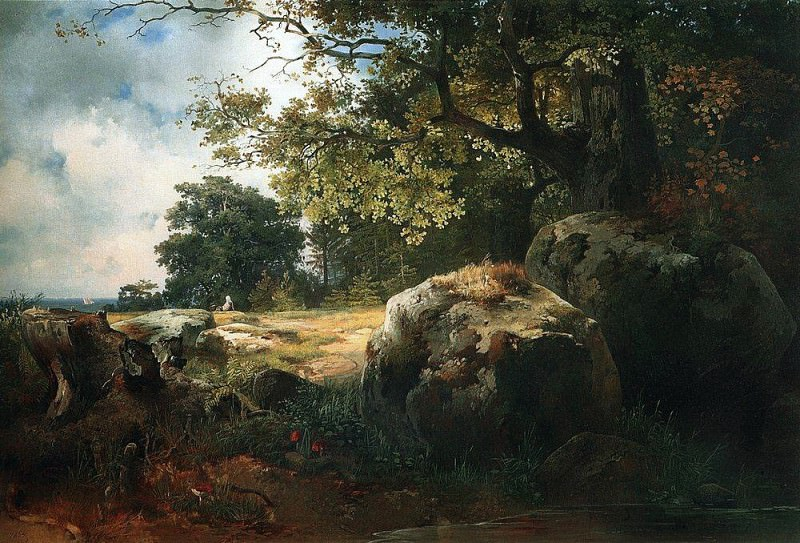 view around Oranienbaum. 1854. Alexey Kondratievich Savrasov