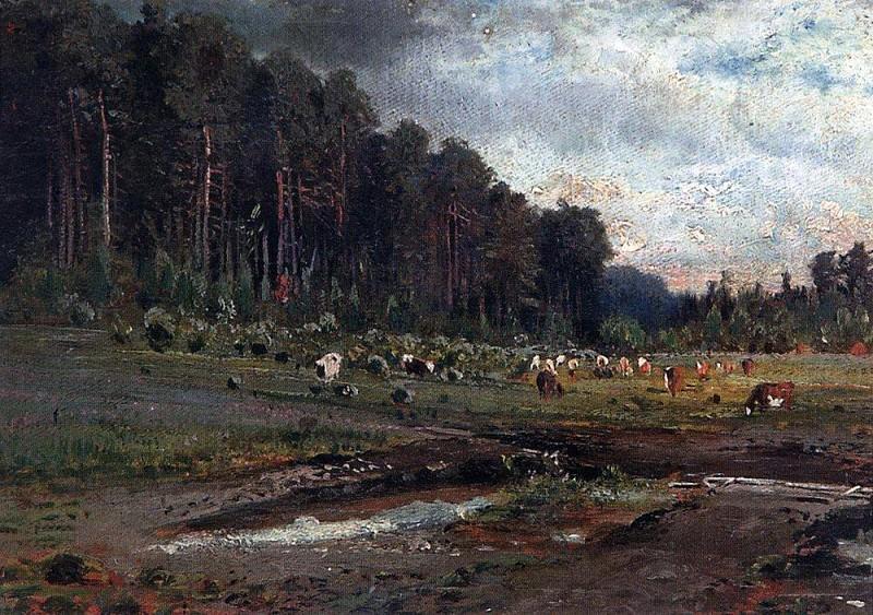 Лосиный остров в Сокольниках1. 1869. Алексей Кондратьевич Саврасов