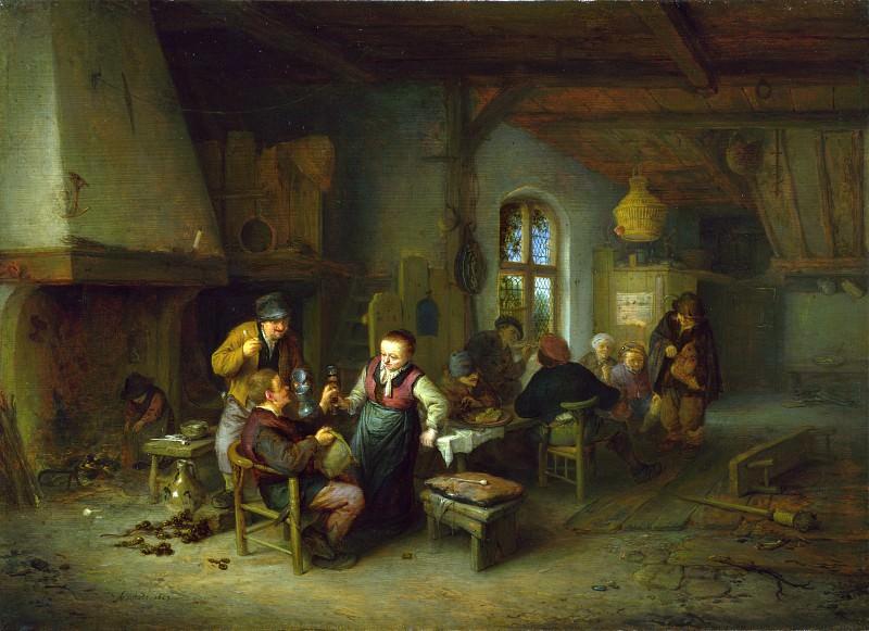 Adriaen van Ostade - The Interior of an Inn. Part 1 National Gallery UK