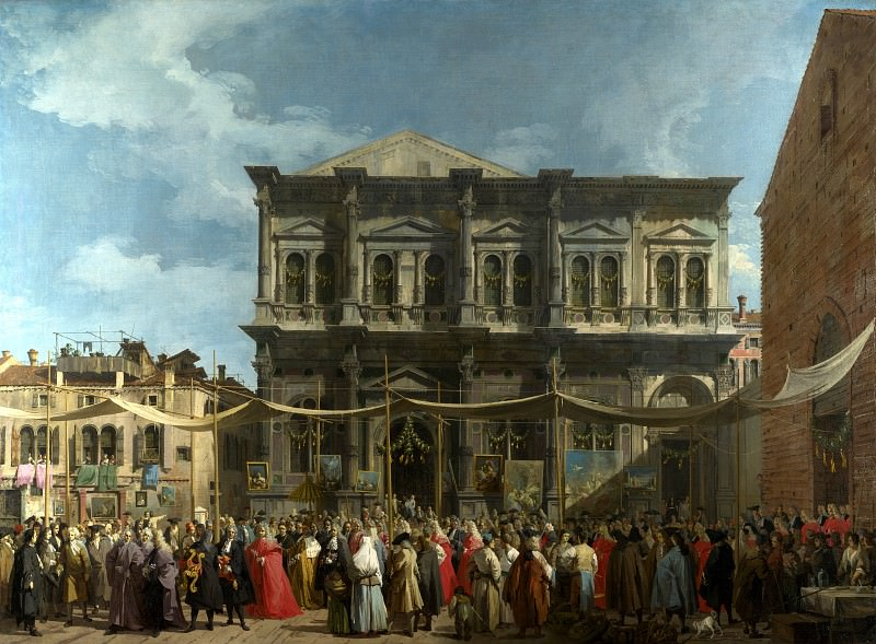 Canaletto - Venice - The Feast Day of Saint Roch. Part 1 National Gallery UK