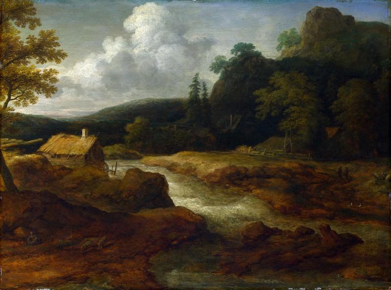 Allart van Everdingen - A Saw-mill by a Torrent. Part 1 National Gallery UK