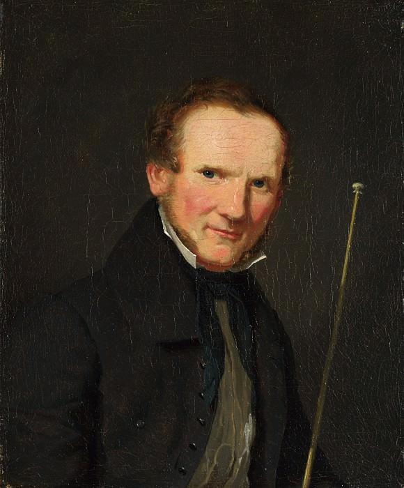 Christen Kobke - Portrait of Wilhelm Bendz. Part 1 National Gallery UK