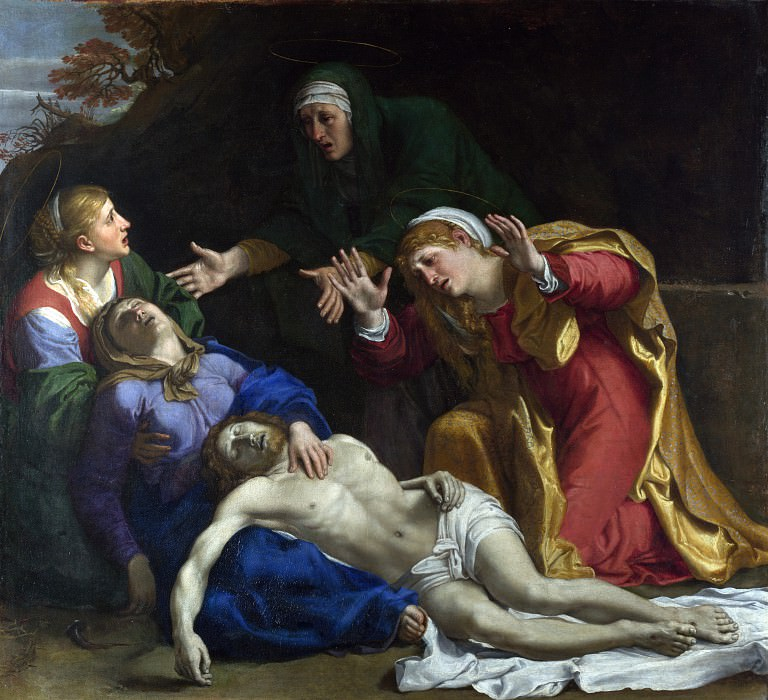 Annibale Carracci - The Dead Christ Mourned (The Three Maries). Part 1 National Gallery UK
