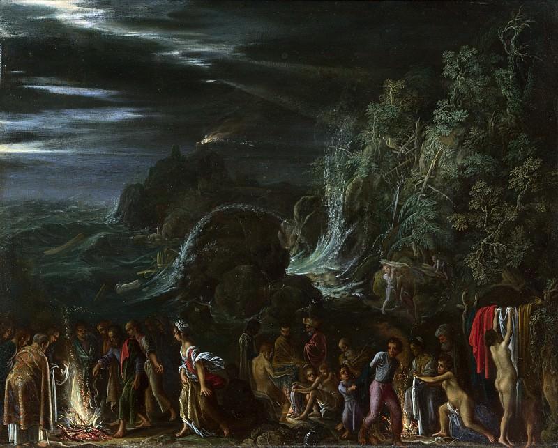 Adam Elsheimer - Saint Paul on Malta. Part 1 National Gallery UK