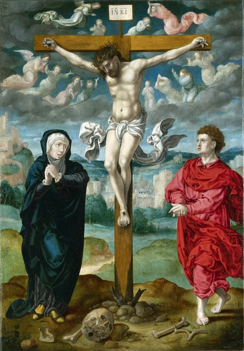 Circle of Pieter Coecke van Aalst - The Crucifixion - Central Panel. Part 1 National Gallery UK