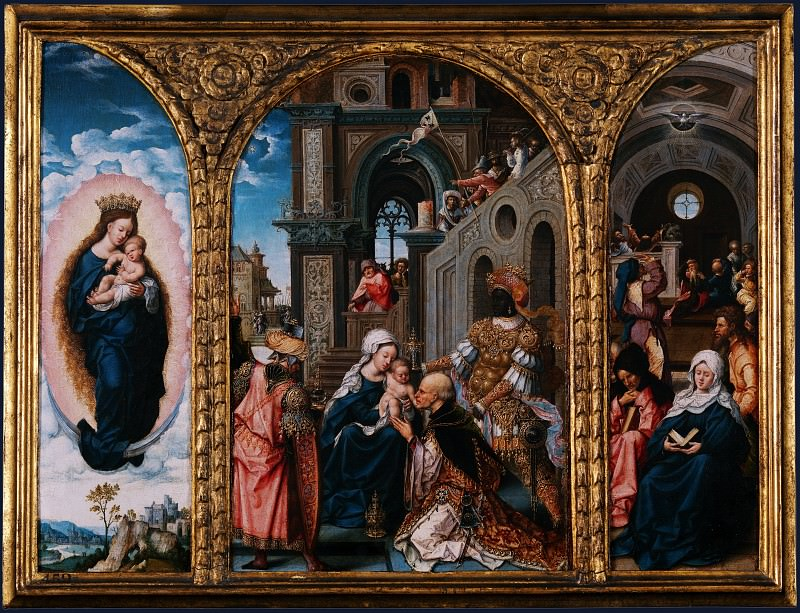 Circle of Jan Gossaert - The Adoration of the Kings. Part 1 National Gallery UK