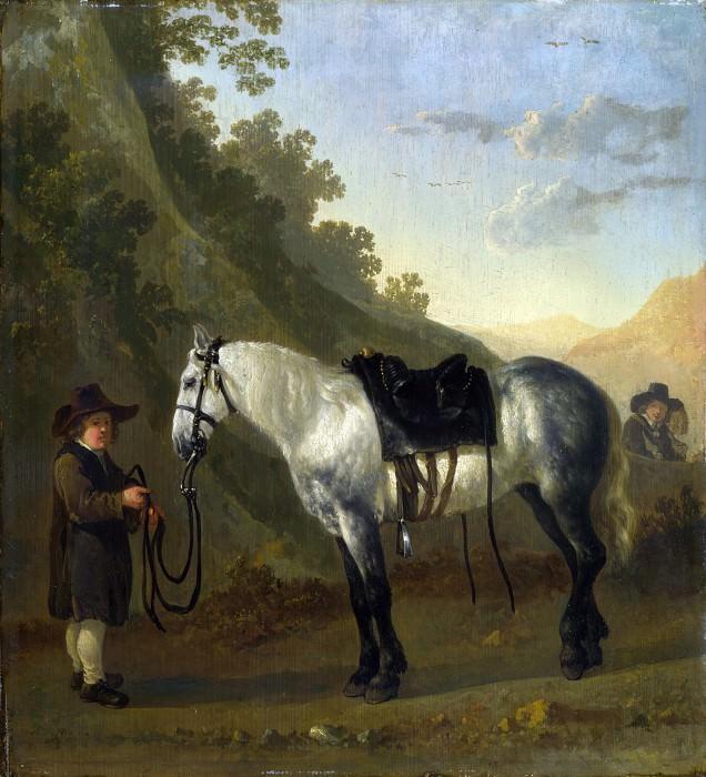 Абрахам ван Кальрат - Мальчик с серой лошадью (приписывется). Часть 1 Национальная галерея