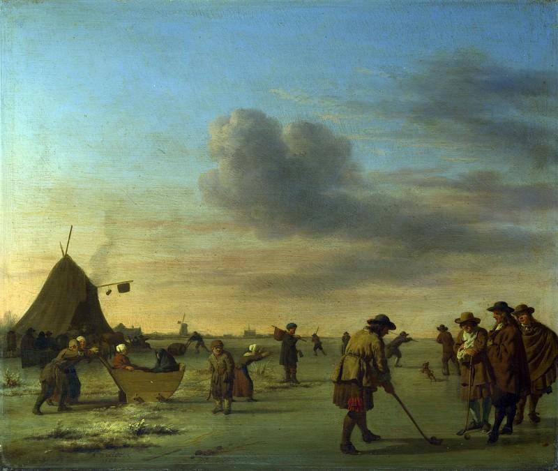 Golfers on the Ice near Haarlem. Adriaen van de Velde