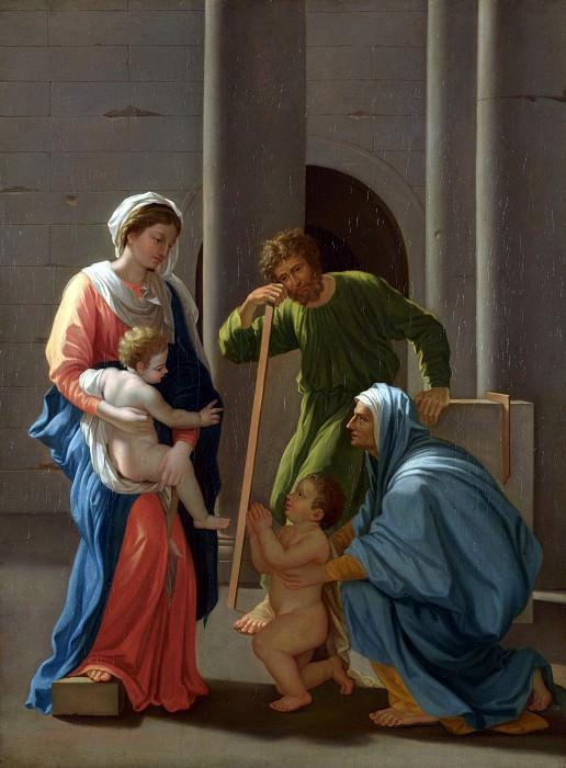 Никола Пуссен (последователь) - Святое Семейство со свв Елизаветой и Иоанном. Часть 1 Национальная галерея