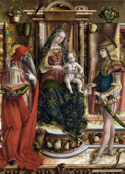 Carlo Crivelli - La Madonna della Rondine (The Madonna of the Swallow). Part 1 National Gallery UK