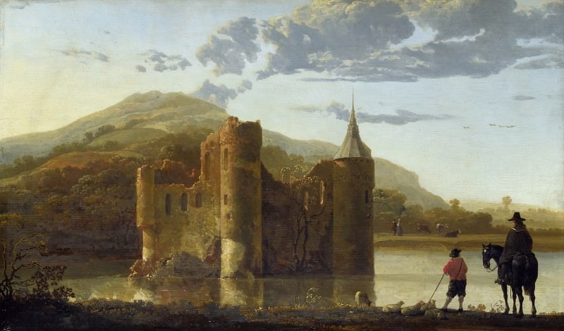 Aelbert Cuyp - Ubbergen Castle. Part 1 National Gallery UK