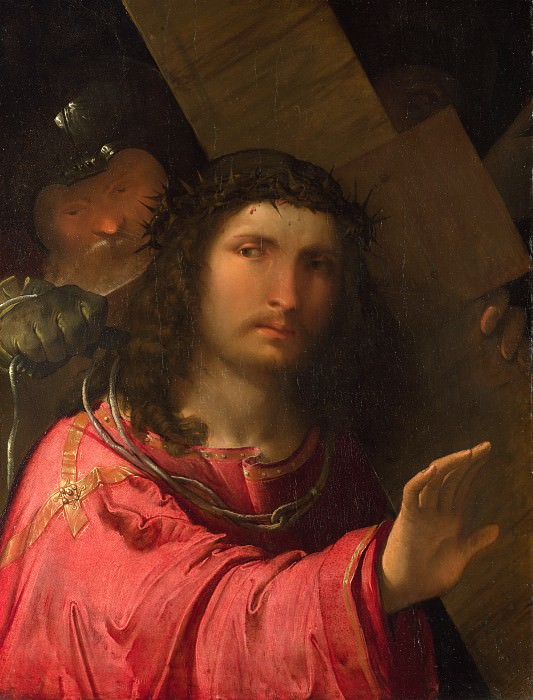 Altobello Melone - Christ carrying the Cross. Part 1 National Gallery UK