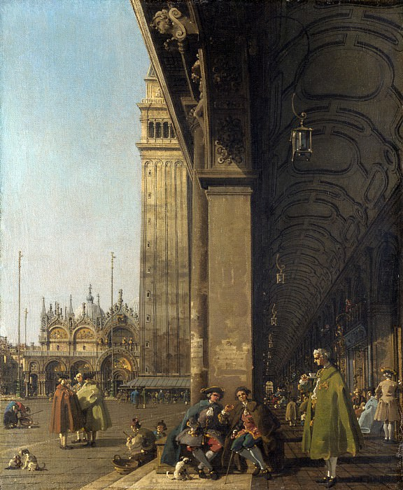 Canaletto - Venice - The Piazza San Marco. Part 1 National Gallery UK