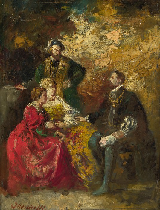 Adolphe Monticelli - Conversation Piece. Part 1 National Gallery UK