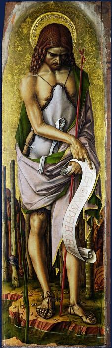 Carlo Crivelli - Saint John the Baptist. Part 1 National Gallery UK