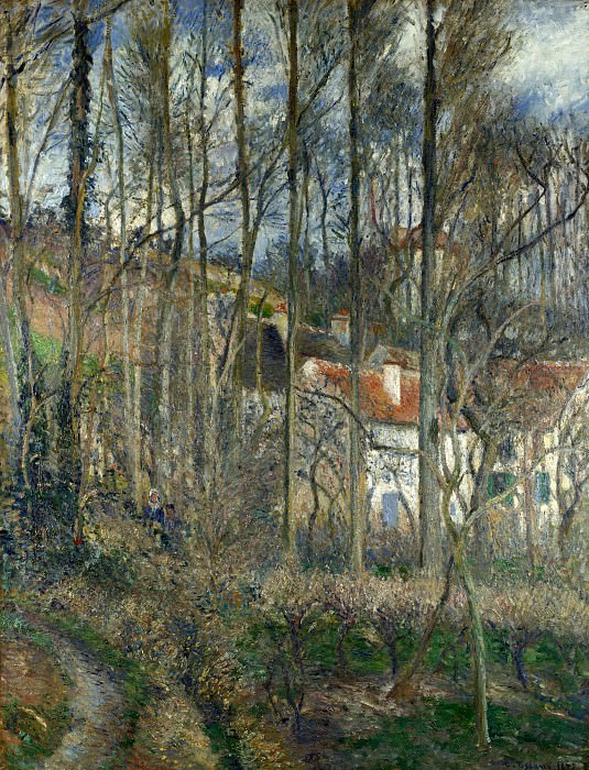 Camille Pissarro - The Cote des Boeufs at LHermitage. Part 1 National Gallery UK